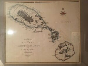 Map Of St.Christophers And Nevis