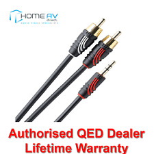 QED Profile Jack to 2 RCA Phono J2P Aux Auxiliary Audio Cable Lead 5m - QE2723
