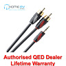 QED Profile Jack to 2 RCA Phono J2P Aux Auxiliary Audio Cable Lead 2m - QE2719