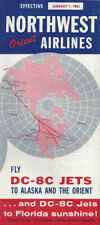 Northwest Orient Airlines system timetable 1/1/61 [0112]