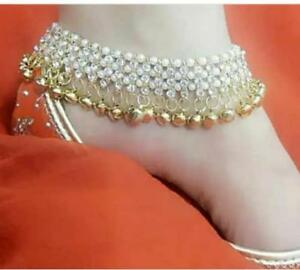 Ethnic Indian Bollywood Fashion Gold Tone Jewelry Anklet Heavy Bell Payal