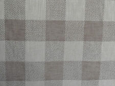 "OSBOURNE & LITTLE ""CATAMARAN"" 6 metres designer woven check fabric NATURAL/IVORY"