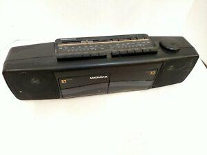 Magnavox Boom Box D 8097/17B Dual Cassette Stereo Ghettoblaster Tested