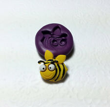 Silicone Mold Cute Bee Insect Mould (21mm) Fondant Gum Paste Gummy Clay Fimo