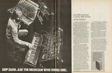 1976 Joe Zawinul / Weather Report - ARP 2600 Synthesizer - Vintage 2-Page Ad