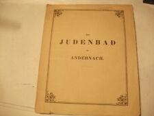 Das Judenbad zu Andernach. Bonn 1853, mit einer lithogr. Tafel. Judaica,Judentum