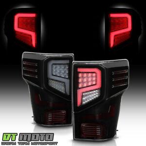 For 2016-2021 Titan XD Black Smoked LED Tube Tail Lights Brake Lamps Left+Right