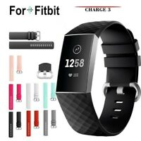 For Fitbit Charge 3 Silicone Wrist Strap Wristband Replacement Watch Accessory
