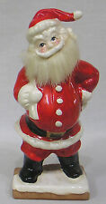 Vintage Santa Claus Figure with Fur Beard and Big Moustache Made in Japan