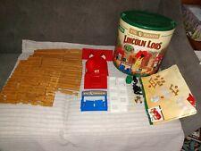 """Original Lincoln Logs Toy Building Set Big """"L"""" Ranch (146 pcs) 95% complete"""