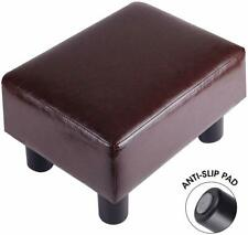 "16""Leather Ottoman Footrest Modern Small Lounge Seat Stool Foot Rest Sofa Couch"