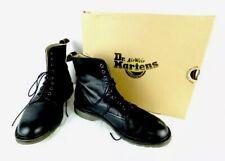 Dr. Martens Combat BOOTS Ladies Sz 9 Black Leather Fine Leather Felicity NM