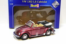 1:18 revell vw beetle 1302 LS Cabriolet red New chez premium-MODELCARS
