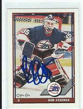 Bob Essensa Signed 1991/92 O-Pee-Chee Card #307