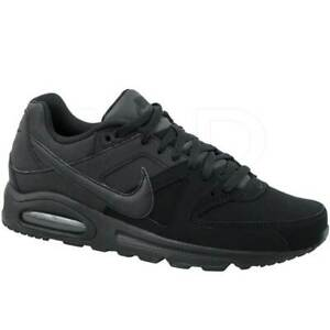 NEW NIKE AIR MAX COMMAND MENS all black Leather Sneaker Trainers SIZE 8