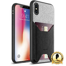 Poetic® For Apple iPhone XS MAX Leather Case w/ Credit Card ID Slot Black