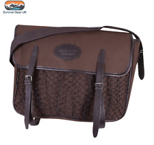 Jack Pyke Canvas Game Bag Brown Washable Lining Leather Country Hunting Shooting