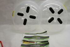 Set of 2 Hover Cover Microwave Splatter Guards by Lori Greiner RTL$22
