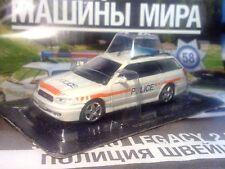 1:43 Subaru Legacy Police Switzerland Police Cars of the World + Magazine #58