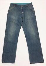 Combo jeans uomo w34 tg 47 48 usato rilassato comodo usato retro vintage T2415