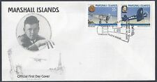 Marshall Islands 1987 Lindbergh Cachet Famous Pilots Fdc