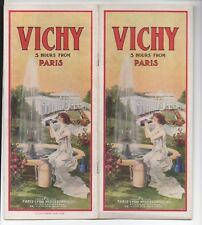 1920s Advertising Brochure Vichy Spa France Paris Lyon  Mediterranean Railway