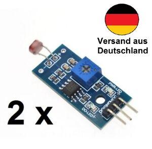 2 x Lichtsensor Helligkeitssensor Modul Fotowiderstand geeignet für Arduino