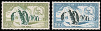 FSAT 1956 PENGUINS AIR POST SET MNH #C1-C2 CV$77.50 Maury #2-3  EUR115.00