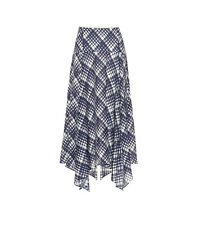 Rixo London Asymmetric Hem Midi Skirt