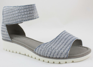 Gabor Snake Aquamarine Ankle Strap Comfort Sandal Women Sizes 6.5,8.5,9,10 NEW