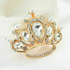 Brooch Pin Fashion Party Jewelry Women Delicate Crystal Rhinestone Crown Collar