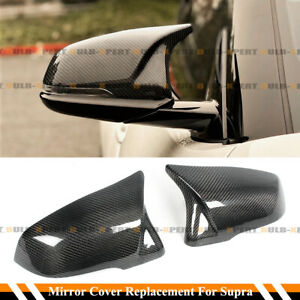 FOR 2020-21 TOYOTA SUPRA A90 M STYLE CARBON FIBER REPLACEMENT MIRROR COVERS CAPS