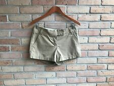 "J.Crew Womens Solid Beige Broken-In Twill Chino 3"" Shorts - sz 4 EUC FAST SHIP"