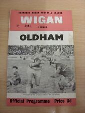 20/02/1965 Rugby League Programme: Wigan v Oldham  (slight marked). Thanks for t