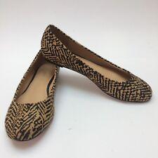 TRENERY Size 37 AU 6 Ballet Flat SALLY Hair Camel All Leather Animal Print