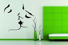Wall Decal Vinyl Decor Art Sticker Kiss Love Face Couple Girl Women Men People