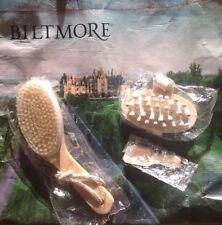 Biltmore Wood Brush For Dry Skin Natural Boar Bristle Spa /3 Pieces