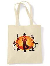 RUOTA Yoga Tote/Borsa a tracolla-la meditazione, spirituale, indù, filosofia