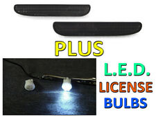 DEPO 94-98 FORD MUSTANG CRYSTAL SMOKE REAR BUMPER REFLECTOR LIGHTS + LED BULBS