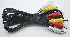 RCA 6 FT  AUDIO/VIDEO COMPOSITE CABLE DVD/VCR/SAT YELLOW/WHITE/RED CONNECTORS