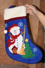 Russ Snowman Christmas Stocking