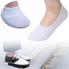 Man Loafer Boat Non-Slip Invisible No Show Nonslip Low Cut Cotton Socks White GA