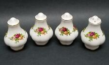 "Royal Albert Old Country Roses 3"" Salt & Pepper Shakers England 1,5,5,9-Hole Set"