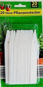 20-100 Pflanzenstecker Pflanzenschilder Steckschilder 15cm Lang 2cm Breit. OVP
