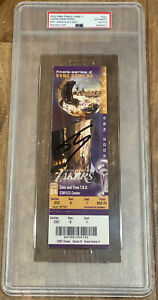 Shaquille O'Neal Signed Lakers Kobe Bryant 2002 FINALS MVP TICKET PSA/DNA AUTO 9