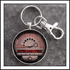 Mini Cooper Tachometer Radio Photo Keychain