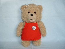 TED Large Talking Cuddly Soft Plush Toy In Red Work Apron SETH MCFARLANE/2/MOVIE