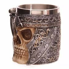 Hot fancy Striking Warrior Tankard Viking Skull Beer Mug Gothic Helmet Drinkware