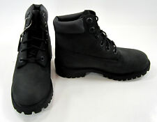 Timberland Boots 6 Inch Premium Leather Juniors Black Shoes Womens 5.5