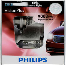 Philips Vision Plus 9003 H4  Bright White Halogen Headlight Bulbs Set